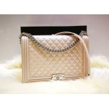 CHANEL Le Boy Large Flap Bag In Lambskin