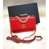 CHANEL 19 Lambskin Wallet On Chain
