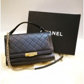 CHANEL Calfskin Large Click Flap Bag