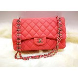 CHANEL Caviar Jumbo Double Flap Bag with Silver Hardware