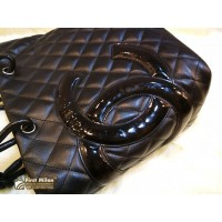 CHANEL Cambon Ligne Quilted Small Tote