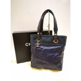 CHANEL Blue Biarritz Tote Bag