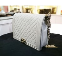 CHANEL Le Boy Large Flap Bag in Caviar