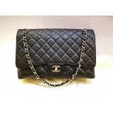 CHANEL Maxi Single Flap Caviar With SHW