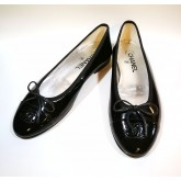 CHANEL Patent Ballerinas Flats (Size:39C)
