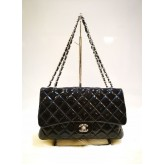 CHANEL Medium Patent Classic Flap Bag