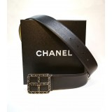 CHANEL Leather Cuir Veritable Belt (Size: 90/36)