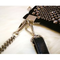 VERSACE Crystal Medusa Chain Wristlet Clutch Bag