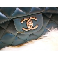 CHANEL Maxi Flap Bag In Lambskin With SHW