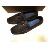 LOUIS VUITTON Brown Suede Monte Carlo Loafers (S:7.5)