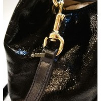 GUCCI Soho Two-way Patent Leather Bag