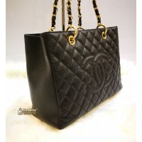 CHANEL Caviar Grand Shopping Tote GHW