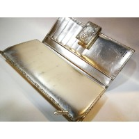 GUCCI Gold Leather Long Wallet