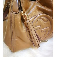 GUCCI Soho Two-way Patent Leather Tote Bag
