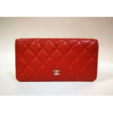 CHANEL Quilted Bifold Wallet In Lambskin
