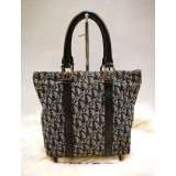 CHRISTIAN DIOR Trotter Hand Tote Bag Navy