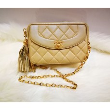 CHANEL Lambskin Quilted Tassel Camera Bag