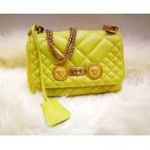 VERSACE Icon Quilted Leather Sling Bag