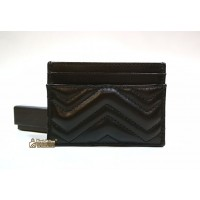 GUCCI Leather GG Marmont Card Case