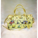 PRADA Canapa Canvas ST.Foula Tote Bag