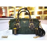 PRADA Tessuto Gaufre Top Handle Bag