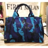 PRADA Canapa Canvas Camouflage Royal Blue