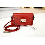 PRADA Saffiano Lux Mini Flap Bag