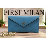 PRADA Saffiano Leather Envelope Wallet