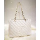 CHANEL Grand Shopping Tote White