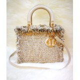 CHRISTIAN DIOR Tweed Lady Dior Medium Tote Bag