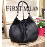 GUCCI Black Drawstring Hobo Bag