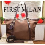 PRADA Tessuto Nylon And Saffiano Leather Tote Bag