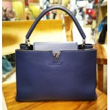 LOUIS VUITTON Taurillon Leather Capucines MM