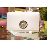 VERSUS VERSACE Flap Over White Leather Sling Bag