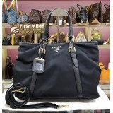 PRADA Tessuto Vitello Daino Shopping Tote