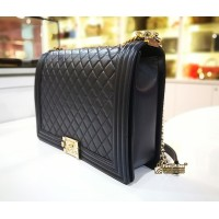 CHANEL Le Boy Flap Large Bag In Lambskin