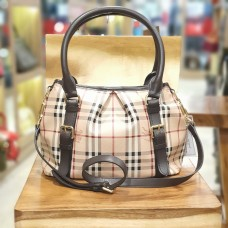 BURBERRY Haymarket Check Tote Bag