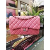 CHANEL Jumbo Lambskin Double Flap Bag with Silver Hardware