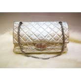 CHANEL Reissue 227 Flap Bag In Metalic Silver