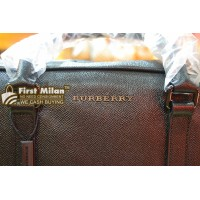 "BURBERRY London ""ML Stoke"" Calfskin Leather Briefcase"