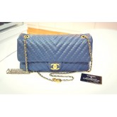 CHANEL Jumbo Chevron Quilted Lambskin Leather Flap Bag
