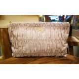 PRADA Gaufre Nappa Leather Clutch