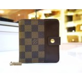 LOUIS VUITTON Damier Ebene Zip Compact Wallet