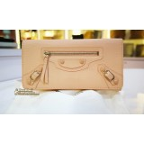 BALENCIAGA Classic Money Long Wallet with Flap Top
