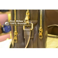 LOUIS VUITTON Bequia Leather Trotter MM Bag