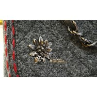 CHANEL Small Wool Flap Bag with Braid And Edelweiss