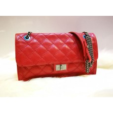 CHANEL Red Reissue Buckle Flap Bag